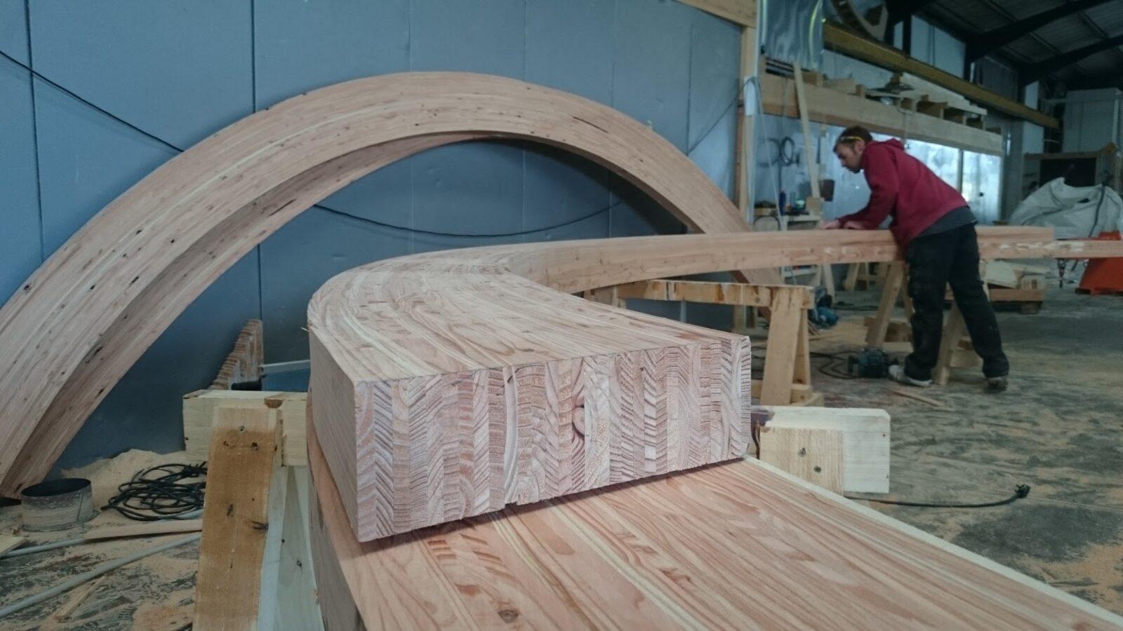 Curved Arch Glulam