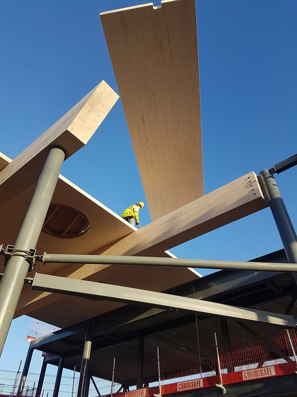 Buckland Timber 'work in progress' installation of CLT