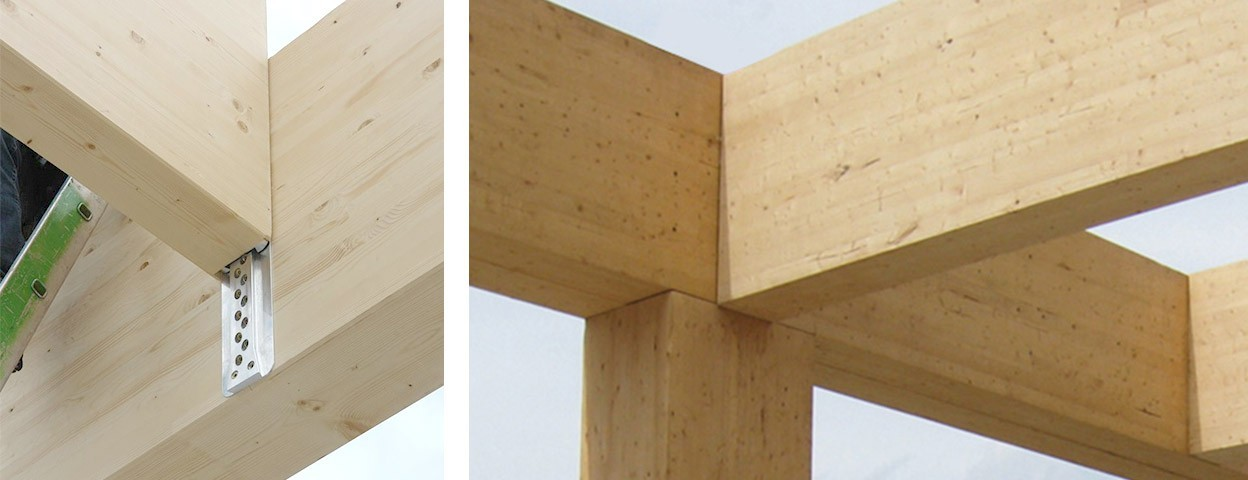Concealed beam hangers