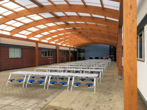 dome glulam school canopy