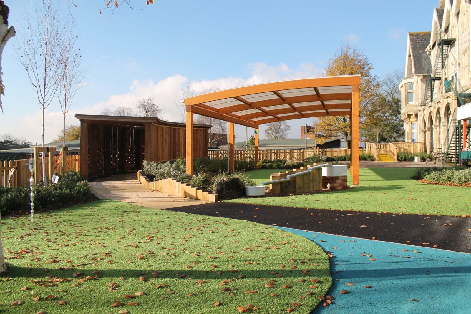 glulam outdoor structure